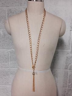 BRAND NEW GOLD COLOR CUTE NECKLACE OR BELLY CHAIN WITH TASSEL SEXY LOOK