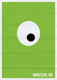 Monsters Inc Minimal Movie Poster