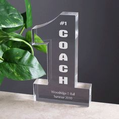 Number One Personalized Coaches Gift
