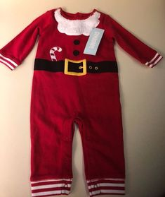 8cd66fcd7 NWT Gymboree Baby Size 3-6 Months One Piece Santa Suit Christmas Holiday  Child #
