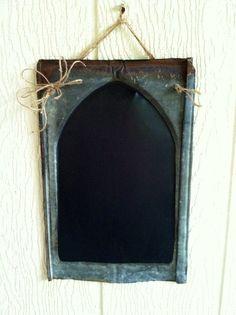 Old Tin Shingles ~ Chalkboard Metal Roof Tiles, Metal Roof Colors, Tin Tiles, Tile Projects, Metal Projects, Vintage Tile, Vintage Metal, Corrugated Tin, Barn Wood Crafts