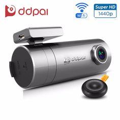 Ddpai mini2 dash cam wifi car dvr 1440 p siêu hd car máy ảnh ống kính xoay không dây snapshot tự động máy quay phim