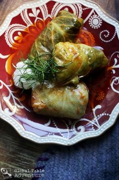 Recipe: Romanian Stuffed Cabbage Leaves (Sarmale) - I Cook Different Cabbage And Bacon, Cabbage Leaves, Cabbage Rolls, International Recipes, Fresco, The Best, Good Food, Cooking Recipes, Top Recipes