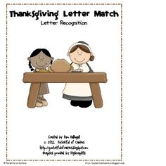 This fun Thanksgiving themed work station is a great way to practice letter recognition!  Print the work mats and letter cards.  Place the letter c...
