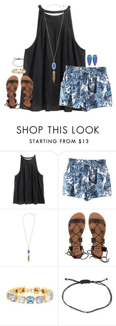 """""""working on myself for myself"""" by kaley-ii ❤ liked on Polyvore featuring H&M, Kendra Scott, Billabong, Kenneth Jay Lane and Melissa Joy Manning"""