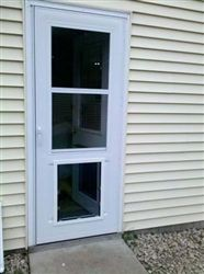 No cutting into your house for the doggie door this - 30 x 80 exterior door with pet door ...