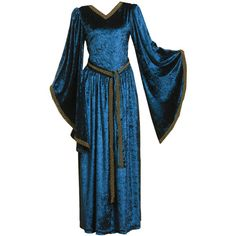 Medieval Dress ❤ liked on Polyvore featuring dresses, medieval, gowns and medieval dresses