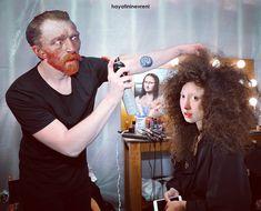 Art of Hair . Johannes Vermeer, Vincent Van Gogh, La Madone, Mona Lisa Parody, Art Jokes, Van Gogh Art, Photocollage, Arte Pop, Cultura Pop
