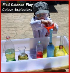Adventures at home with Mum: Mad Scientist Play - Colour Explosions
