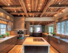 These 8 Inspirations Turn Your Kitchen Into a Designer Kitchen: Antique-Style Beams   Contemporary Kitchen