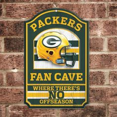"Product # HC5722 - NFL FAN CAVE SIGN welcomes visitors to your football-viewing domain! Proclaim your loyalty and deck out your den, basement, family room or sports shrine with this colorful wall sign featuring your favorite team's helmet and logo. Has pre-drilled hole for hanging. Pressed-wood board construction. 17"" H x 11"" W. Made in USA.  $29.98"