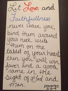 Proverbs /Scripture cards