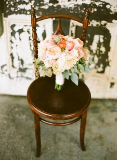 Event Planning/Design by In The Now Weddings + Events   Photography by Lane Dittoe   Romantic Smog Shoppe Wedding