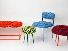 Selectism previews Brazilian designer Humberto Damata's Cloud seating collection, featuring whimsical, brightly colored woven chairs and benches.