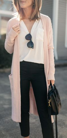 Warm Fuzzy Feelings Blush Pink Cardigan at reddressboutique