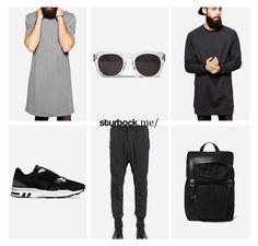 Locker lässig, grau und schwarz. Hier entdecken und shoppen: http://sturbock.me/V94