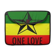 Shop Rasta One Love MacBook 15 inch Sleeve created by truckeystar.