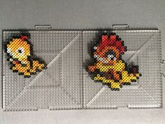 #559-#560 Scraggy and Scrafty Perlers by TehMorrison