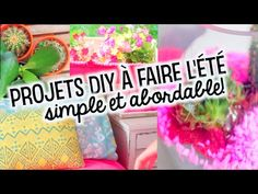 PROJETS DIY D'ÉTÉ | facile, cute et abordable!! Diy Back To School, Cool Stuff, Youtube, Diy Room Decor, Home Ideas, Bricolage, Youtubers, Youtube Movies