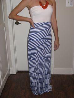 Geometric Print Maxi Skirt  Size Small 0/2 by AnniesApparel, $15.00