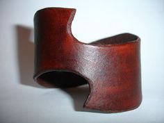 Brown Leather Cuff  Leather Bracelet Cuff  by ChristyKeysCreations, $30.00