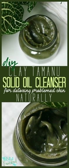 DIY Clay Tamanu Oil Cleanser