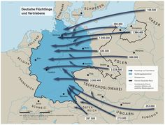 "Just seen on LeMO: LeMO object: Didactic card ""German refugees and displaced persons"" - Didactic map of the refugee movements at the end of the Second World War - Budapest, Alternate History, Historical Maps, History Museum, Old West, World War Two, Germany, About Me Blog, Holland"