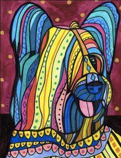 OFF Storewide- Skye Terrier art Art Print Poster by Heather Galler Dachshund Art, Pug Art, Skye Terrier, Terriers, Dog Pop Art, Modern Pop Art, Dog Poster, Tile Art, Frida Kahlo