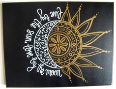 11x14 Original Painted Canvas -- Live By The Sun, Love By The Moon