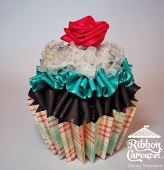 Ribbon Carousel Blog: Tutorial: Ribbon Cupcake Gift Card holder