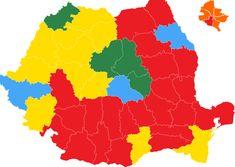 HARTA INTERACTIVĂ Rezultatele alegerilor parlamentare 2020 pe judeţe. Jumătate din harta României este roşie Grinch