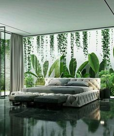 BEDROOM DESIGN IDEAS - Find your favorite bedroom photos here. Browse through images of inspiring bedroom design ideas to create your perfect home. Beautiful Bedroom Designs, Beautiful Bedrooms, Interior Garden, Room Interior Design, Design Bedroom, Interior Ideas, Luxury Interior, Design Interiors, Bathroom Interior
