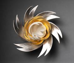 Jennifer McCurdy, Gilded Lotus Nest in Sold Pottery Sculpture, Pottery Art, Jennifer Mccurdy, Pottery Handbuilding, Philadelphia Museum Of Art, Organic Form, Contemporary Ceramics, Bottle Art, Ceramic Artists