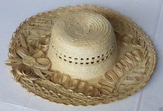 #women hat women straw hat size L (58) natural palm straw made in Guatemala  (004) withing our EBAY store at  http://stores.ebay.com/esquirestore