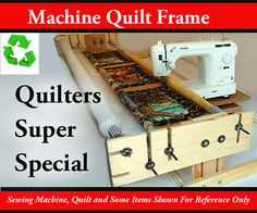 home quilt frame by ken lund, I have the deluxe model, search ebay or the net.
