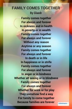 Remember your family this holiday and every season. Read more inspirational poems and quotes,