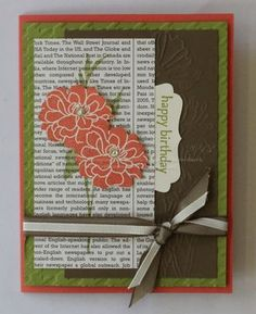 With video - Fabulous Florets, Family Reunion, Houndstooth & Flower Garden embossing folders. Thanks Holly!