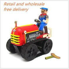2016 MS35616cm tractor adult Collect retro toys Decoration creative Photography props Tin Toy children's Christmas gift