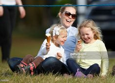 theroyalforums:  Isla and Savannah Phillips enjoy ice cream with their mother Autumn at Gatcombe Horse Trials, Gloucestershire, March 25, 2016