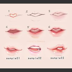 lips step by step - by kawacy