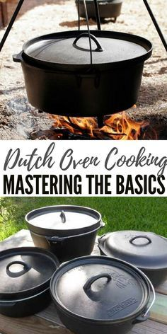 Dutch Oven Cooking - Mastering the Basics - When it comes to Dutch oven cooking, one needs to learn about storage and seasoning, how to correctly use it the first times and how temperature control works. Besides this you will also need the proper tool to Cast Iron Dutch Oven, Cast Iron Cooking, Oven Cooking, Cooking Tips, Cooking Classes, Dutch Oven Uses, Cooking Salmon, Cooking Light, Cooking Squash
