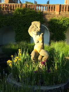 Aphrodite Statue / Bulbous Betty - Terrace Gardens Terrace Garden, Aphrodite, Garden Sculpture, Dinosaur Stuffed Animal, England, Gardens, Statue, Outdoor Decor, Animals