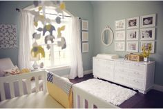 mint, yellow, gray nursery