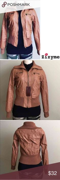 Women's Faux Leather Jacket Polyurethane Material lining 100% Polyester. ️Manikin is wearing Small size. ️AVAILABLE ️Size:S.M.L.XL.XXL Jackets & Coats