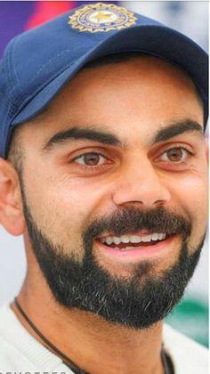 Ufff his eyes. Virat Kohli Beard, Virat Kohli Quotes, Cricket In India, Virat Kohli Wallpapers, Virat And Anushka, Champions Trophy, Liverpool Players, Team Games, Anushka Sharma