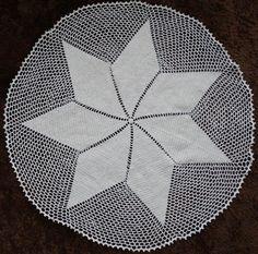 Toalha de mesa em crochê Motivo Estrela