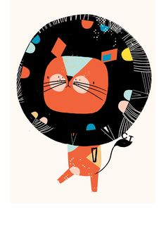 Corby Tindersticks poster met leeuwenprint | Springstof