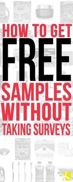 7 Sites to Get Free Samples Without Filling Out Surveys - The Krazy Coupon Lady Ways To Save Money, Money Saving Tips, How To Make Money, How To Get, Money Savers, Money Tips, Free Stuff By Mail, Get Free Stuff, Get Free Samples