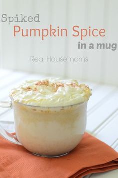 Spiked Pumpkin Spice in a mug | Real Housemoms | This drink is perfect for Fall and can be made into a family friendly drink!