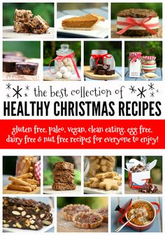 The Best Healthy Christmas Recipes (with options for all types of diets! Healthy Christmas Recipes, Easter Recipes, Thanksgiving Recipes, Dairy Free Nut Free Recipes, Gluten Free, Vegan Sugar, Paleo Vegan, Happy Healthy, Savoury Dishes